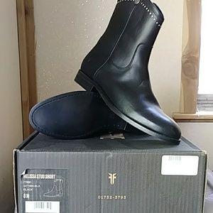 FRYE Melissa Stud Short Boots Size 8M